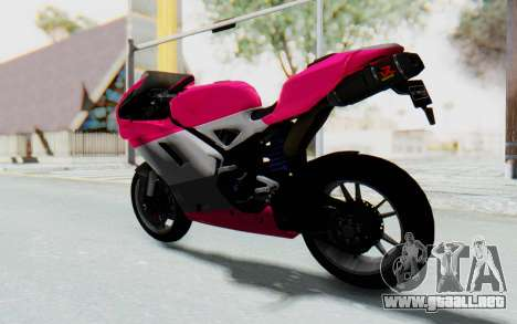 Ducati 1098R High Modification para GTA San Andreas left