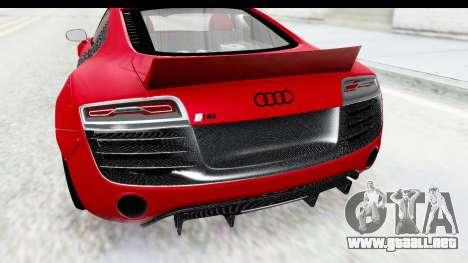 Audi R8 5.2 V10 Plus LB Walk para GTA San Andreas vista hacia atrás