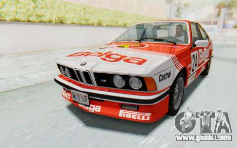 BMW M635 CSi (E24) 1984 HQLM PJ2 para vista inferior GTA San Andreas