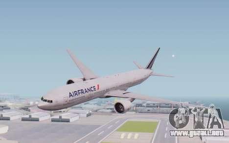 Boeing 777-300ER France Air para GTA San Andreas vista posterior izquierda