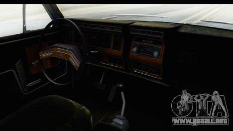 Ford Bronco 1980 para visión interna GTA San Andreas