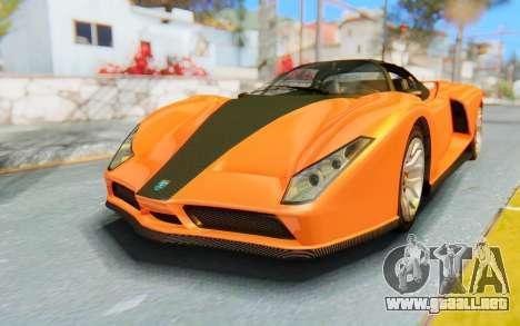 GTA 5 Grotti Cheetah IVF para GTA San Andreas vista posterior izquierda