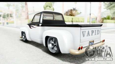 GTA 5 Vapid Slamvan Custom IVF para el motor de GTA San Andreas