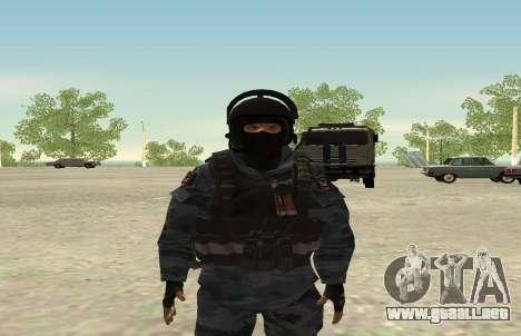 La policía antidisturbios-Berkut (Rusia) para GTA San Andreas