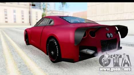 Nissan GT-R R35 Top Speed para GTA San Andreas left