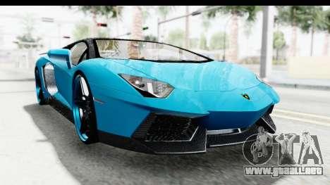 Lamborghini Aventador LP700-4 Novitec Torado para GTA San Andreas vista hacia atrás