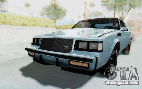 Buick GNX 1987 para GTA San Andreas