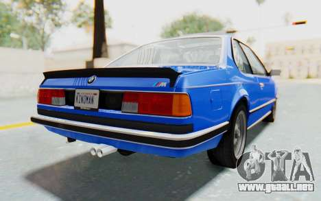 BMW M635 CSi (E24) 1984 HQLM PJ1 para GTA San Andreas left