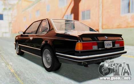 BMW M635 CSi (E24) 1984 HQLM PJ3 para GTA San Andreas left