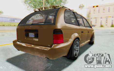 GTA 5 Vapid Minivan para GTA San Andreas left