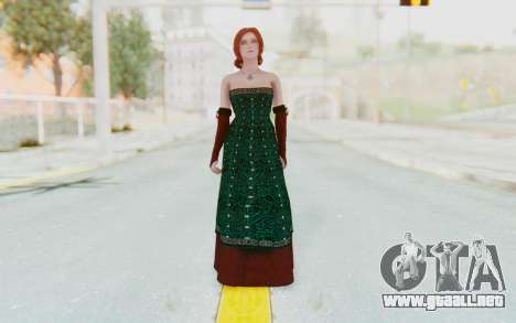 The Witcher 3 - Triss Merigold Dress para GTA San Andreas segunda pantalla