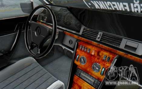 Mercedes-Benz W124 Stance Works para visión interna GTA San Andreas