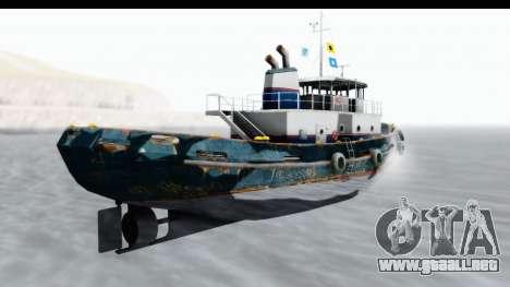 GTA 5 Buckingham Tug Boat v1 para GTA San Andreas left