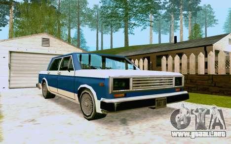 Bobcat Sedan para GTA San Andreas left