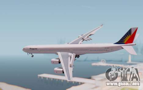 Airbus A340-600 Philippine Airlines para GTA San Andreas left