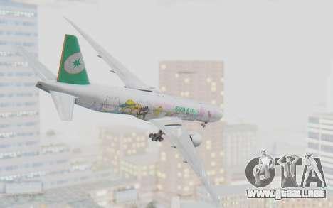 Boeing 777-300ER Eva Air v1 para la visión correcta GTA San Andreas