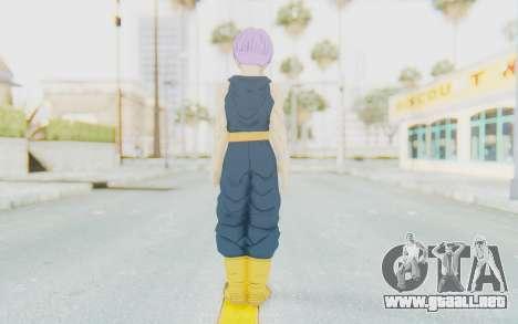 Dragon Ball Xenoverse Future Trunks Shirt para GTA San Andreas tercera pantalla