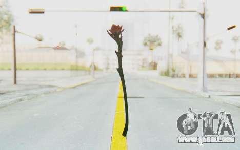 Sanguinerose Staff para GTA San Andreas segunda pantalla
