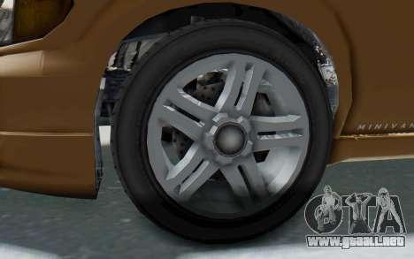GTA 5 Vapid Minivan para GTA San Andreas vista hacia atrás