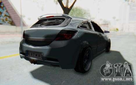 Opel Astra para GTA San Andreas vista posterior izquierda