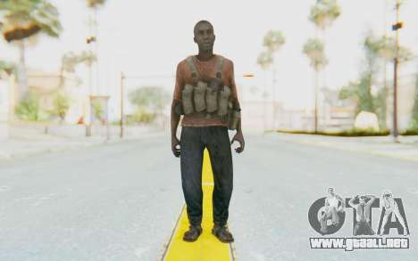 CoD MW3 Africa Militia v3 para GTA San Andreas segunda pantalla