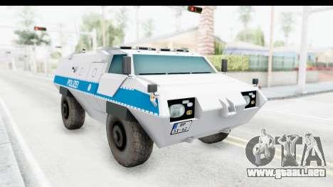 Hermelin TM170 Polizei para la visión correcta GTA San Andreas