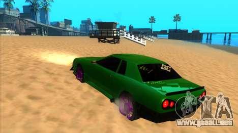 Elegy 1.3 by Mr.Phantom para GTA San Andreas vista posterior izquierda