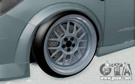 Opel Astra para GTA San Andreas vista hacia atrás