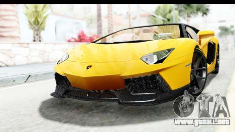 Lamborghini Aventador LP700-4 LB Walk para GTA San Andreas vista posterior izquierda