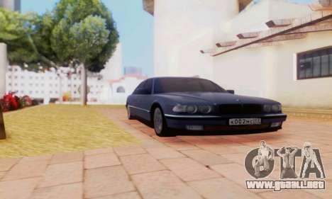 BMW 750 para GTA San Andreas vista posterior izquierda