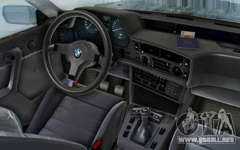BMW M635 CSi (E24) 1984 HQLM PJ3 para GTA San Andreas vista hacia atrás