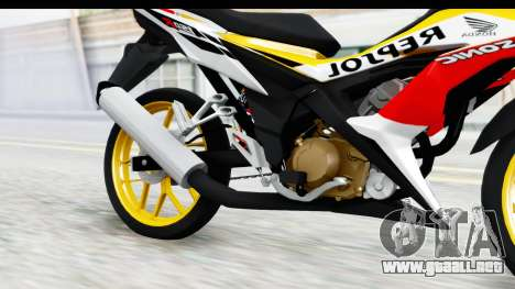 Honda 150R Sonic X IDFR para visión interna GTA San Andreas
