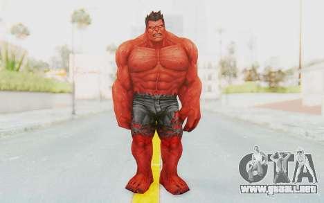 Marvel Future Fight - Red Hulk para GTA San Andreas segunda pantalla