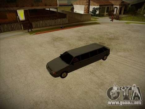 VAZ 2114 Devastadora HQ model para visión interna GTA San Andreas