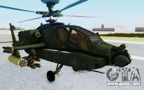 AH-64 Apache para la visión correcta GTA San Andreas