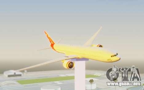 Boeing 777-300ER Virgin Australia v1 para GTA San Andreas vista posterior izquierda