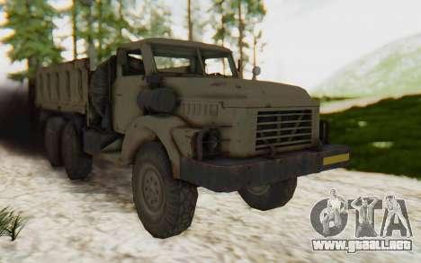 MGSV Phantom Pain Zi-GRA 6T Truck para la visión correcta GTA San Andreas