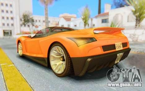 GTA 5 Grotti Cheetah IVF para GTA San Andreas left
