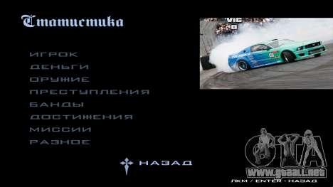 New menu para GTA San Andreas segunda pantalla
