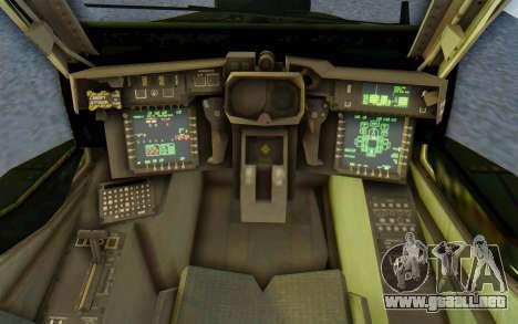 AH-64 Apache para visión interna GTA San Andreas