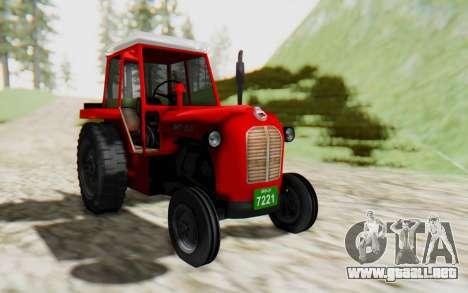 IMT 539 Deluxe para GTA San Andreas vista posterior izquierda