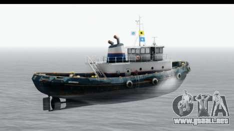 GTA 5 Buckingham Tug Boat v2 para GTA San Andreas vista posterior izquierda