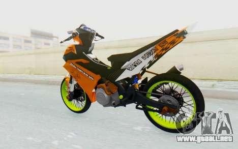 Yamaha Jupiter MX 135 Roadrace para GTA San Andreas left