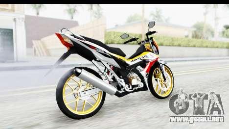 Honda 150R Sonic X IDFR para GTA San Andreas left