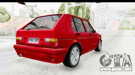 Volkswagen Golf Citi 1.8 1998 para GTA San Andreas vista posterior izquierda