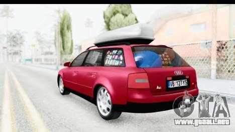Audi A6 C5 Avant Sommerzeit para GTA San Andreas vista posterior izquierda
