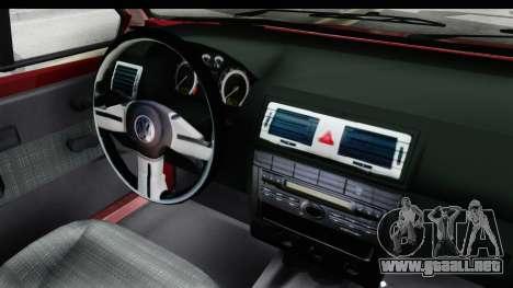Volkswagen Golf VeloCiti 2008 Updated para visión interna GTA San Andreas