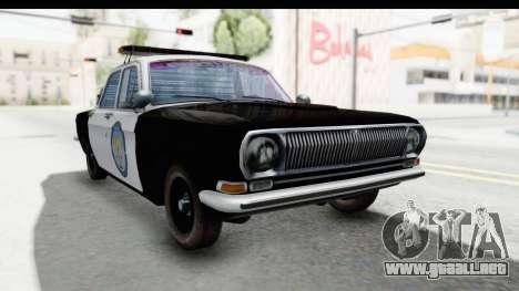 ГАЗ 24 de Policía de la Patrulla de la Carretera para la visión correcta GTA San Andreas