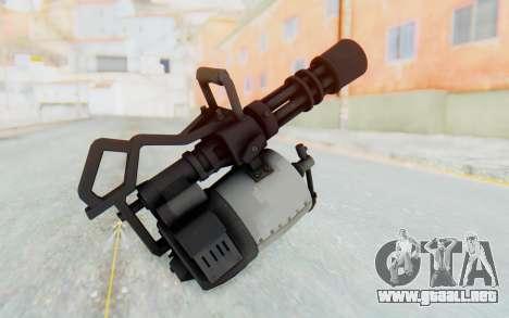 Minigun from TF2 para GTA San Andreas tercera pantalla