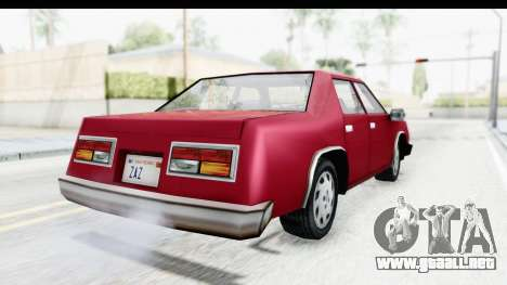 Ford Fairmont from Bully para GTA San Andreas vista posterior izquierda
